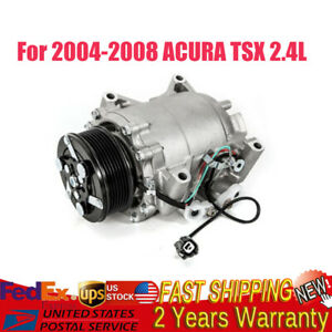 Ac Compressor W clutch Fit For Acura Tsx 2004 2005 2006 2007 2008 2 4l Co 10849t