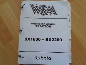 Kubota Bx1800 Bx2200 Tractor Factory Workshop Repair Manual Oem