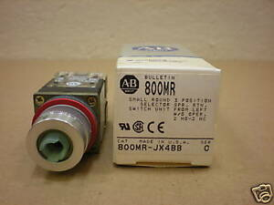 1 Nib Allen Bradley 800mr jx4bb Small Round Selector Switch 3 Pos 2 N o 2 N c