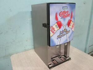 silver King sknes2 Commercial Refrigerated 2 Flavors Coffee Creamer Dispenser