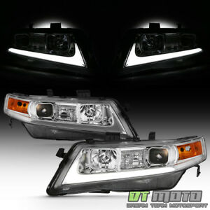 2004 2008 Acura Tsx Cl9 Led Light Tube Projector Headlights Headlamps Left Right