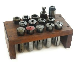 14 Pieces Machinist Lathe Hardinge Phase Ii R8 Collet Set 4 16 To 7 8 With Too