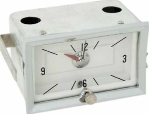 Tf126159 White Face Clock With Quartz Movement 1957 Chevy 150 210 Bel Air Nomad