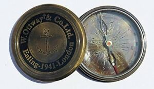 Antique Style W Ottway S Collectible Brass Compass By Larp Armory