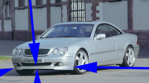 Mercedes Benz W215 Cl Class Authentic Carlsson Front Lip Rare Made In Germany