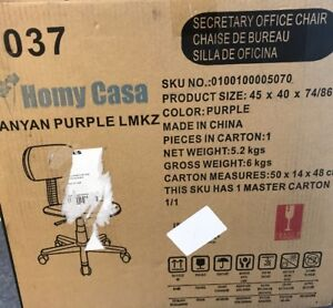 Purple Office Chair Computer Desk Swivel Mesh Executive Student Roll Home Task