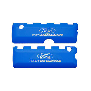 Ford Performance M 6067 50fp Mustang Coil Cover Blue With Ford Performance Logo
