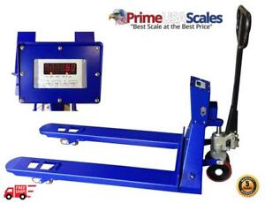 5 Year Warranty Pallet Jack Scale With Built in Printer 3 000 X 1 Lb Capacity