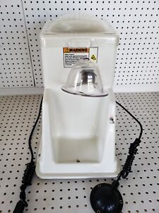 Commercial Cube Ice Shaver W foot Petal Shaved Ice Machine