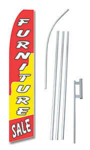 Furniture Sale Tall Advertising Banner Flag Complete Sign Kit 2 5 Feet Wide