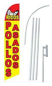 Ricos Pollos Asados Windless Swooper Flag Kit