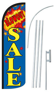 30 Wider Super Swooper Blowout Sale Feather Flag Sign Blade Banner