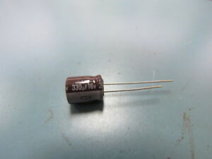 Nichicon Upl1c331mph6 Qty Of 200 Per Lot Aluminum Electrolytic Capacitors Rad