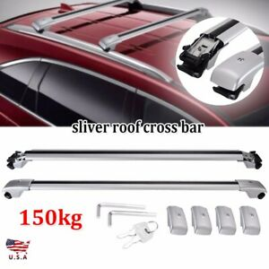 Silver Top Roof Rack Rail Cross Bar Crossbar For Ford Explorer 12 2013 2014 2015