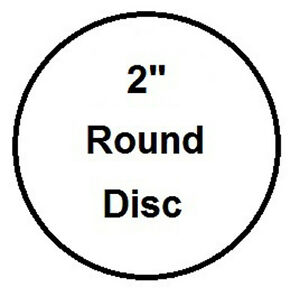 2 Round Aluminum Insert Sublimation Award And Trophy Disc Lot Of 1000pcs