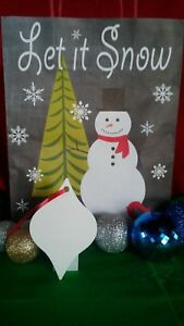 Christmas Tapered Ornaments Two Sided White Aluminum Sublimation Blanks 0 85ea