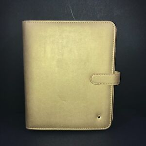 Franklin Covey Love Classic Gold Simulated Leather Planner Binder 7 Ring
