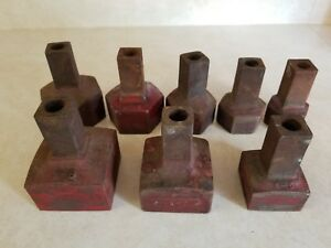 8 Vintage Lowell Wrench Co Steel Wrench Sockets