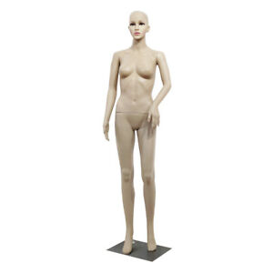 Full Body Female Mannequin W Base Realistic Display Head Turns Dress Bent Foot