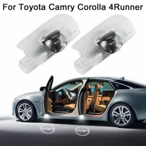 2pcs For Toyota Car Led Door Projector Courtesy Puddle Shadow Laser Light Logo