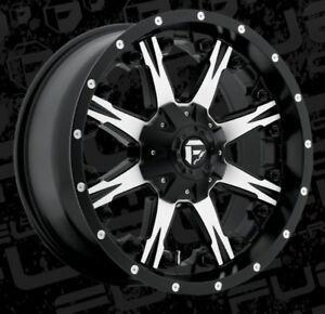 Fuel Nutz D541 20x9 8x6 5 Et1 Black Machined Rims New Set 4