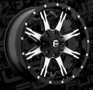 Fuel Nutz D541 20x9 6x135 6x5 5 Et1 Black Machined Rims New Set 4