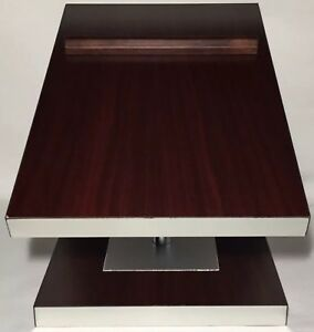 Vtg Jcpenny Countertop Double Shoe Stand Display Slant Wood And Metal Fixture