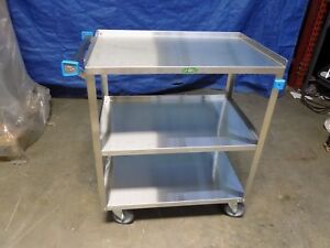 Lakeside Stainless Steel Utility Cart 3 shelf 500 Lb Capacity 32 X 31 X 19