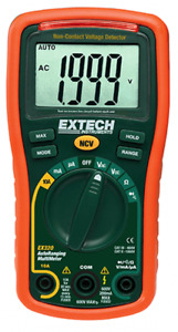 Extech Ex320 8 Function Mini Multimeter Non contact Voltage Detector