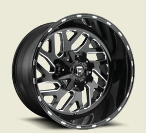 Fuel Triton D581 17x9 8x6 5 Et1 Black milled Rims New Set 4