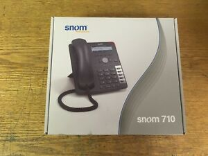 New Snom 710 Ip 4 Line Display Voip Business Office Telephone Phone