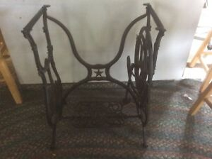 Antique Domestic Cast Iron Treadle Sewing Base Stand