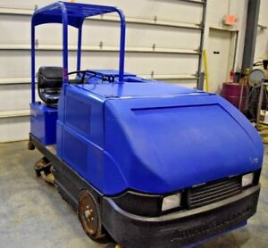 American Lincoln Sc7750 Floor Scrubber Sweeper In Good Condition 266 Hours
