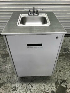Portable Hot Water Hand Wash Sink Station New Water Heater 8958 Cart Market Usa