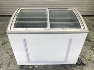 41 Glass Slide Top Reach In Ice Cream Chest Display Nsf Freezer 8974 Commercial