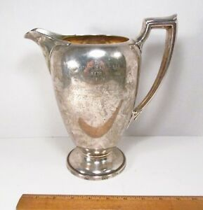 Vintage Reed Barton Usa Sterling Silver Large Water Pitcher Engraved 32 Toz