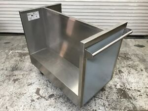 Randell 41 x 24 Dish And Tray Stainless Steel Bus Cart Side Load 8985 Bulk Nsf