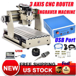 Usb 3axis Cnc Router 3020 Engraver Machine Engraving Wood Metalworking Carving