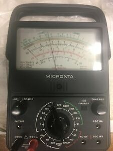 Micronta 21 Range Multitester 22 210 Audible Continuity Leads Radio Shack