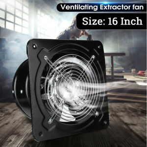 16 Heavy Duty Commercial Axial Industrial Extractor Ventilation Fan Air Blower