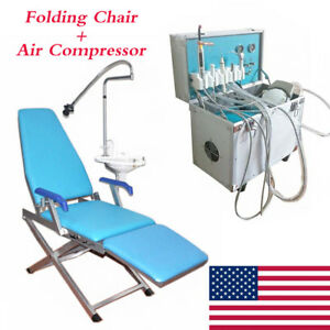 Dental Portable Unit With 4 Hole Ultrasonic Air Compressor portable Dental Chair
