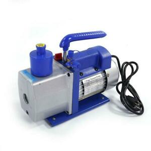 New 5 Cfm 1 3hp Deep Vacuum Pump 110v Hvac Ac Refrigerant 2 X Bottles Of Oils