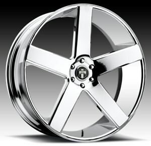 24x10 Dub Baller Dc S115 5x5 0 Et20 Chrome Rims New Set Of 4
