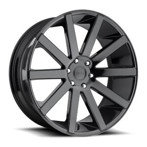 26x10 Dub Shot Calla S219 6x5 5 Et30 Gloss Black Rims New Set Of 4