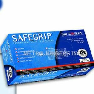Microflex Safegrip Powder free Latex Gloves 500 case Choose Size S M L Xl