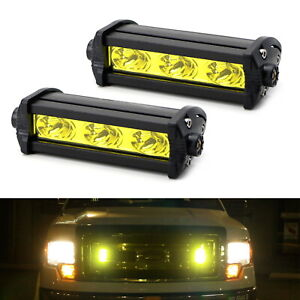 Yellow 3 cree Led Daytime Running Lights For Behind Grille Lower Bumper Insert