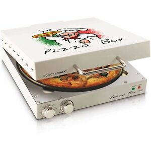 Cuizen Pizza Box Pizza Oven 12 Non stick Rotating Pizza Pan Timer Thermostat