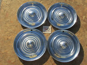1956 Oldsmobile 88 Super 88 Holiday Fiesta 15 Wheel Covers Hubcaps Set Of 4