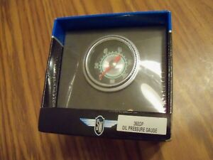 Stewart Warner Green Line Mech Oil Pressure Gauge 2 1 16 Black Fc new 360dp