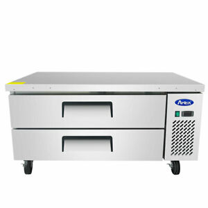 New 52 Chef Base Refrigerated Stainless Steel Cooler Nsf Atosa Mgf8451gr 4708
